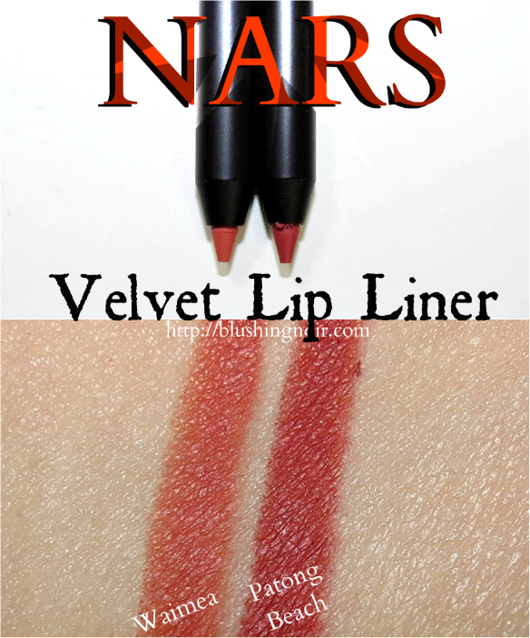NARS Velvet Lip Liner Swatches