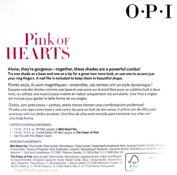 OPI Pink of Hearts 2014 Breast Cancer Pink Ribbon