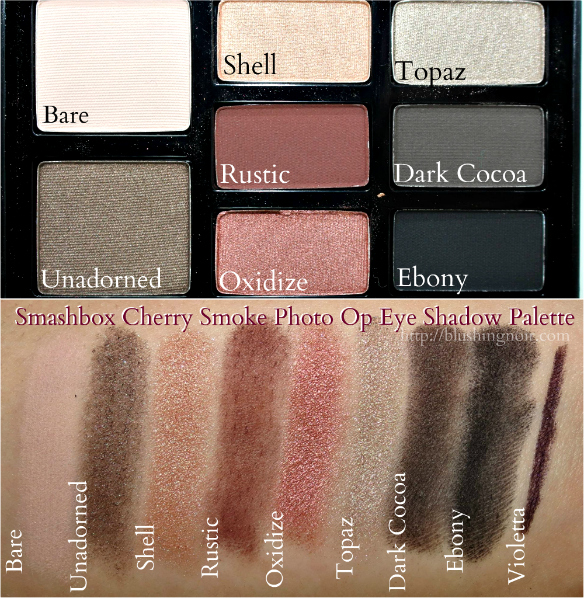 Smashbox Cherry Smoke Photo Op Eye Shadow Palette Swatches