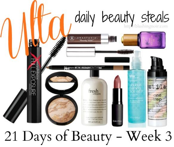 Ulta 21 Days of Beauty Week 3 daily beauty steals