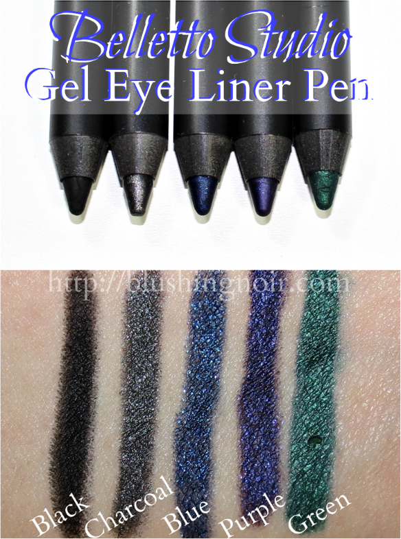 Belletto Studio Optimeyes Gel Eye Liner Pen Swatches