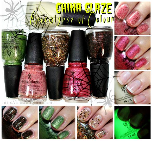China Glaze Apocalypse of Colour Nail Polish Swatches + Review – Halloween 2014