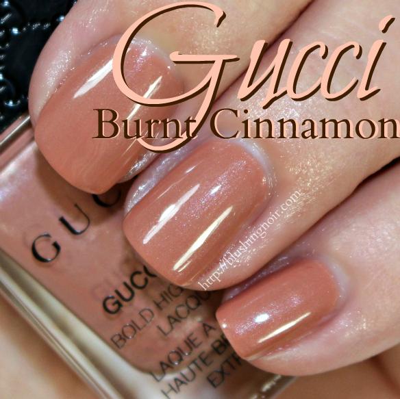 Gucci Burnt Cinnamon Nail Polish Swatches