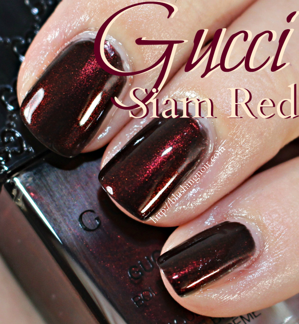 Gucci Siam Red Nail Polish Swatches