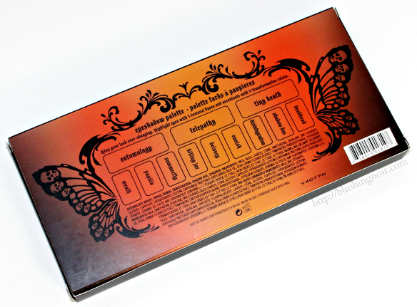 Kat Von D Monarch Eyeshadow Palette shadow list