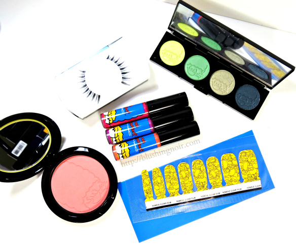 MAC The Simpsons Collection Review Swatches #MACxMarge