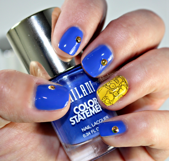 MAC The Simpsons Nail Stickers Swatches