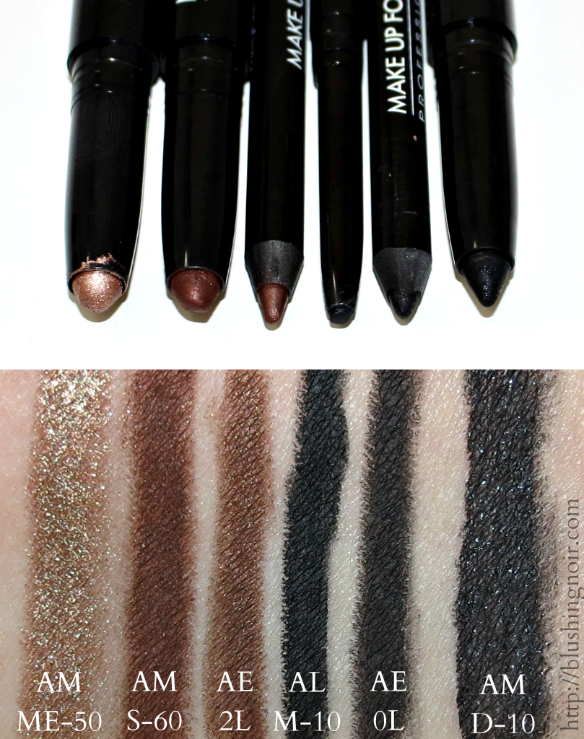 Make Up For Ever Black and Brown eyeliners