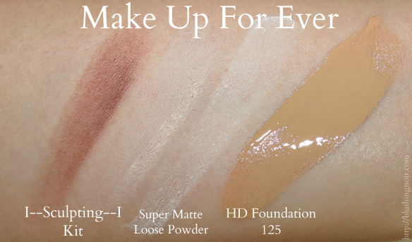 Make Up For Ever Face product swatches