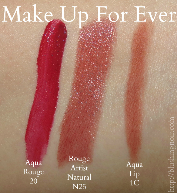 Make Up For Ever Lip Product Swatches