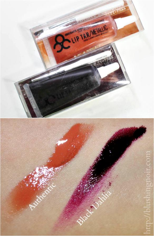 OCC Lip Tar Authentic Black Dahlia Swatches