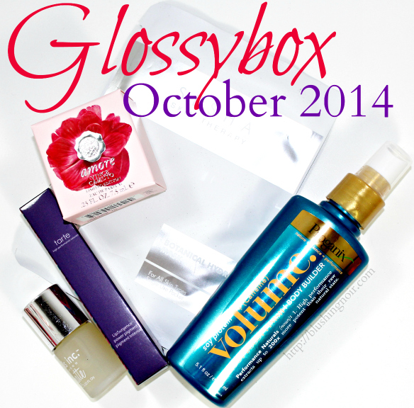 October 2014 Glossybox Swatches Review