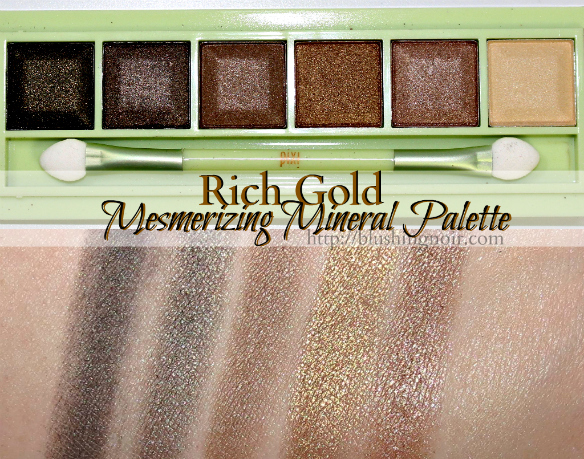 Pixi Beauty Rich Gold Mesmerizing Mineral Eyeshadow Palette Swatches