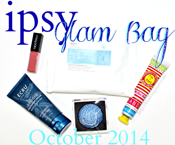 ipsy October 2014 glam bag Swatches Review