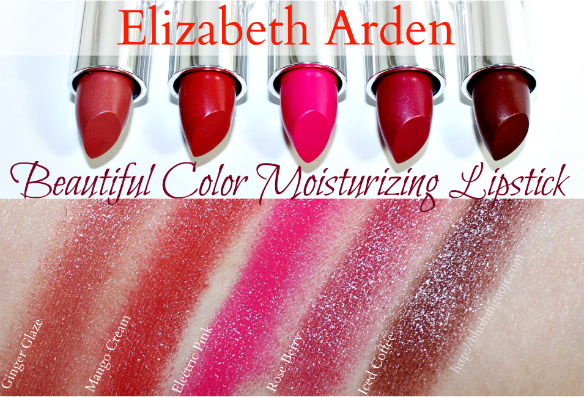 Elizabeth Arden Beautiful Color Moisturizing Lipstick Swatches
