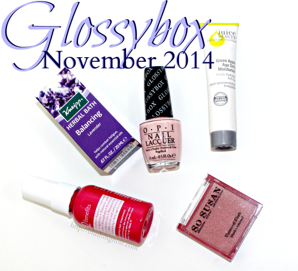 Glossybox November 2014 Swatches Review