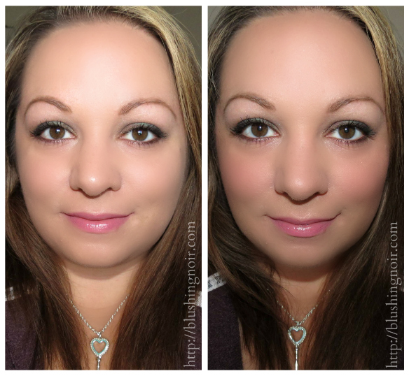 IT Cosmetics CC+ Radiance Palette before after