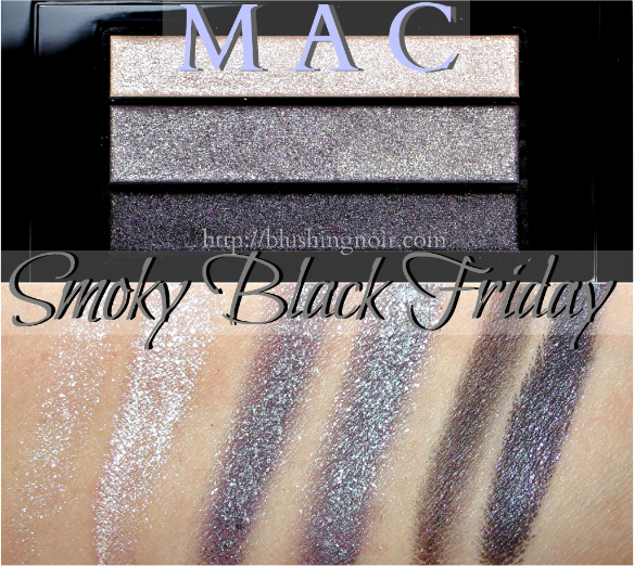 MAC Smoky Black Friday Eye Shadow Swatches