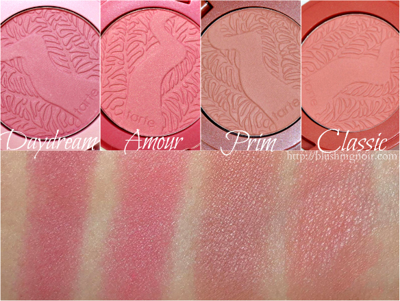 Tarte Chic to Cheek Deluxe Amazonian Clay Blush Set Swatches