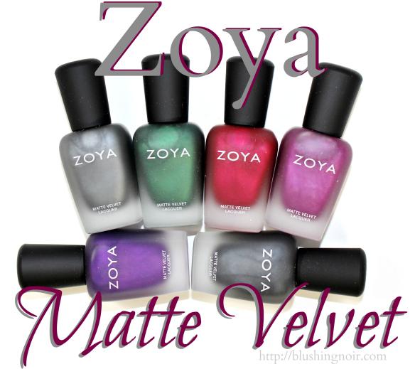 Zoya Matte Velvet Nail Polish Swatches