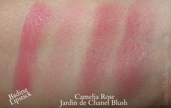 Chanel Camelia Rose Jardin de Chanel Blush Swatches