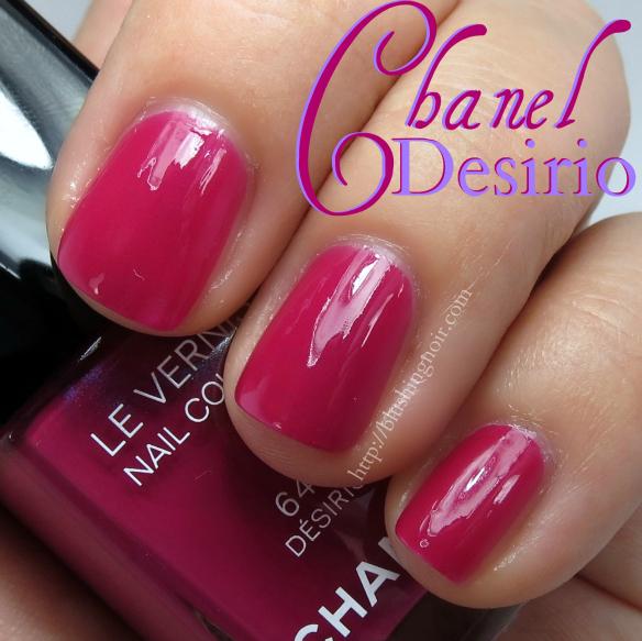 Chanel Desirio Nail Polish Swatches