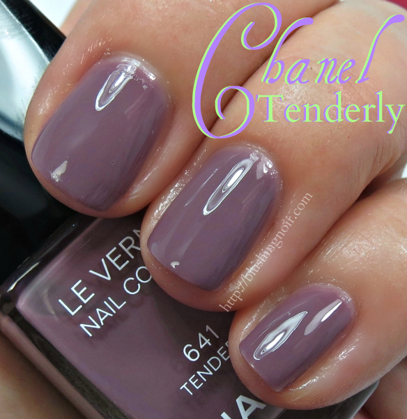 Chanel Tenderly Nail Polish Swatches