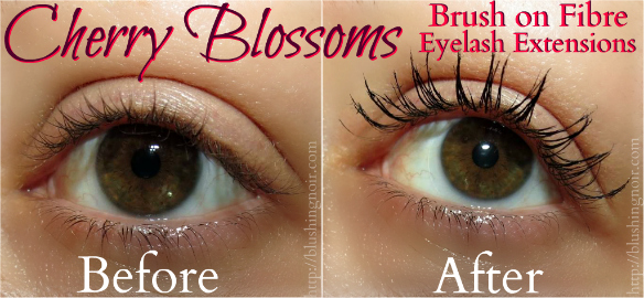 Cherry Blossoms Brush on Fibre Eyelash Extensions Before After