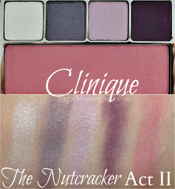 Clinique The Nutcracker Act II Eye Shadow Palette swatches