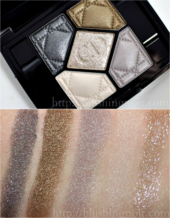 Dior Golden Reflections 5 Couleurs Eyeshadow Palette Swatches