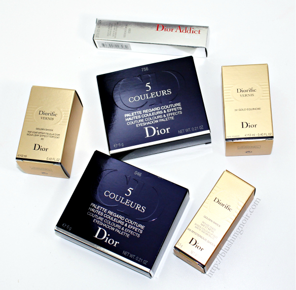 Dior Golden Shock Collection Holiday 2014 Swatches Review
