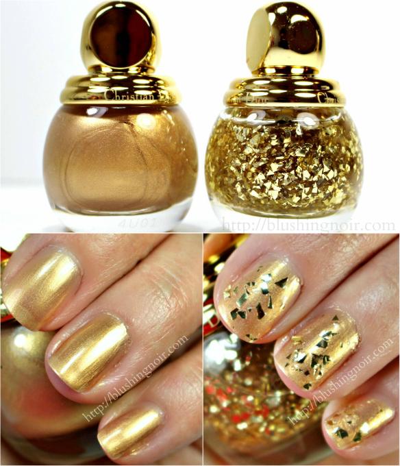 Dior Golden Shock Gold Equinoxe Nail Polish Swatches