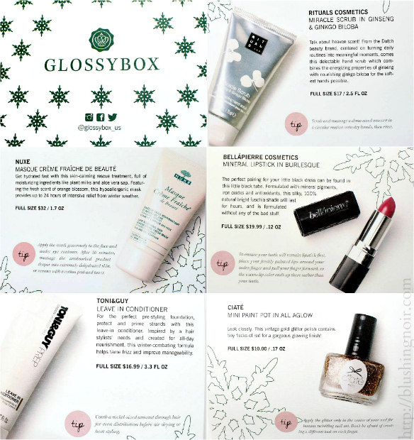 Glossybox December 2014 contents
