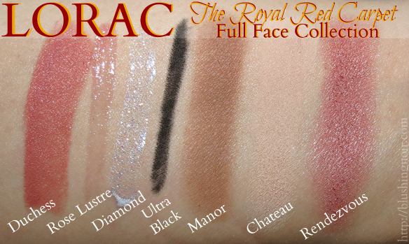 LORAC Royal Red Carpet Full Face Collection Swatches