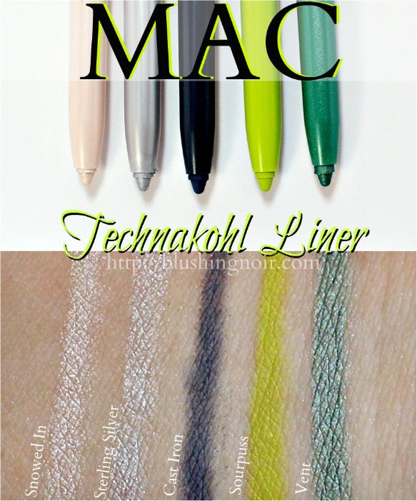 MAC Technakohl Liner Swatches
