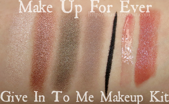 Make Up For Ever Give In To Me Makeup Kit Swatches