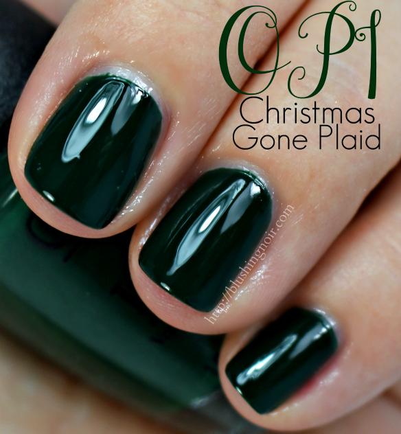 OPI Christmas Gone Plaid Nail Polish Swatches