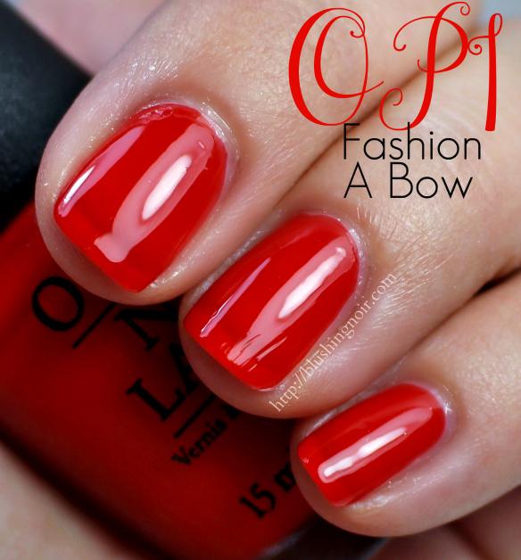 OPI Fashion A Bow Nail Polish Swatches