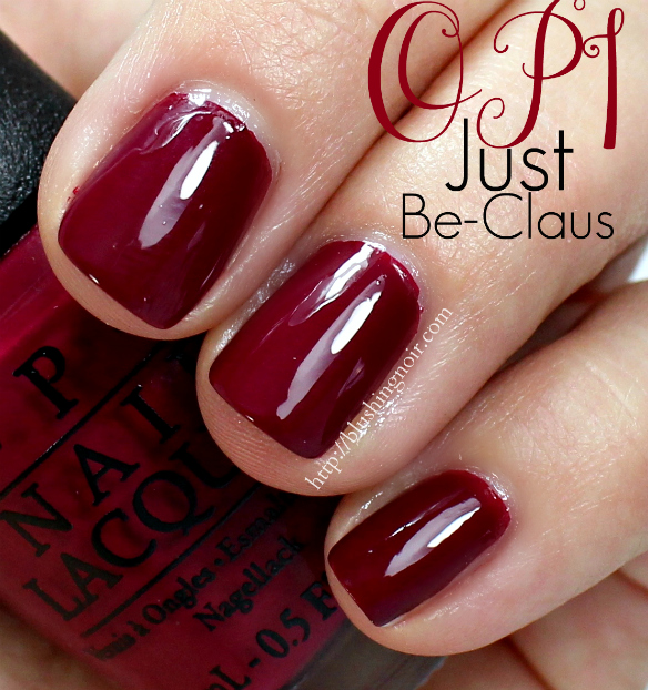 OPI Just Be-Claus Nail Polish Swatches