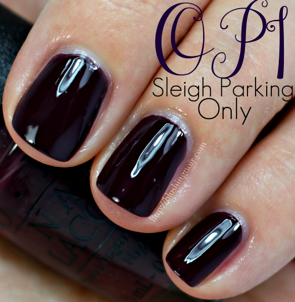 OPI Sleigh Parking Only Nail Polish Swatches