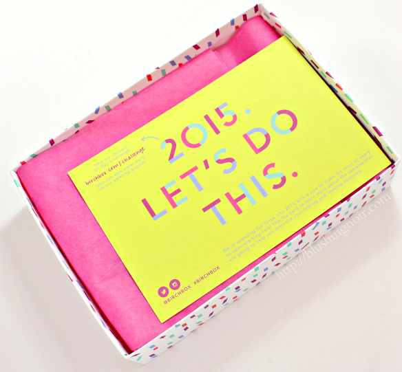 Birchbox January 2015 Let's do this