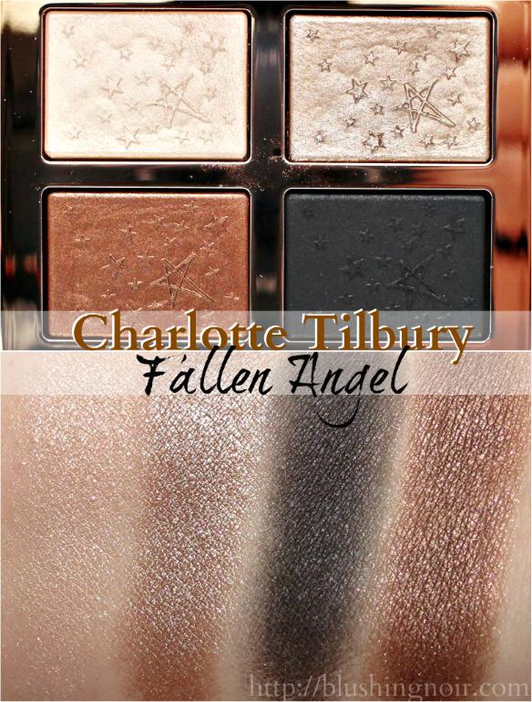 Charlotte Tilbury Fallen Angel Eye Shadow Palette Swatches
