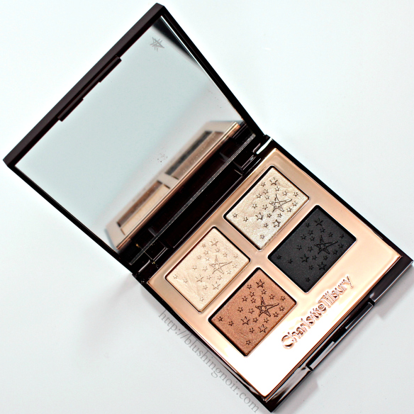 Charlotte Tilbury Fallen Angel eyeshadow palette swatches review
