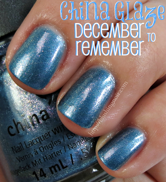 China Glaze December to Remember Nail Polish Swatches
