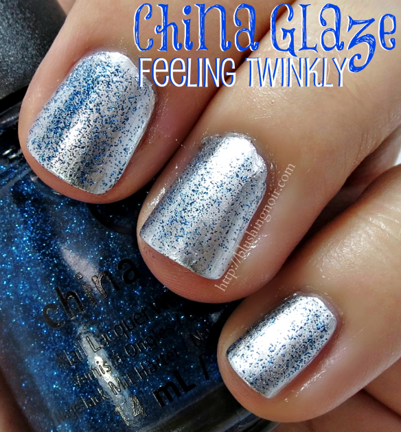 China Glaze Feeling Twinkly Nail Polish Swatches