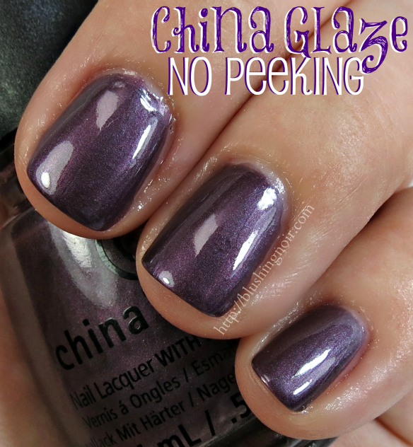 China Glaze No Peeking Nail Polish Swatches
