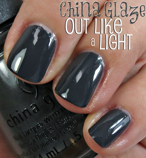 China Glaze Out Like a Light Nail Polish Swatches