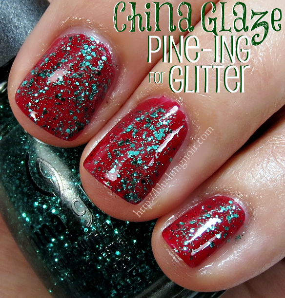 China Glaze Pine-ing for Glitter Nail Polish Swatches