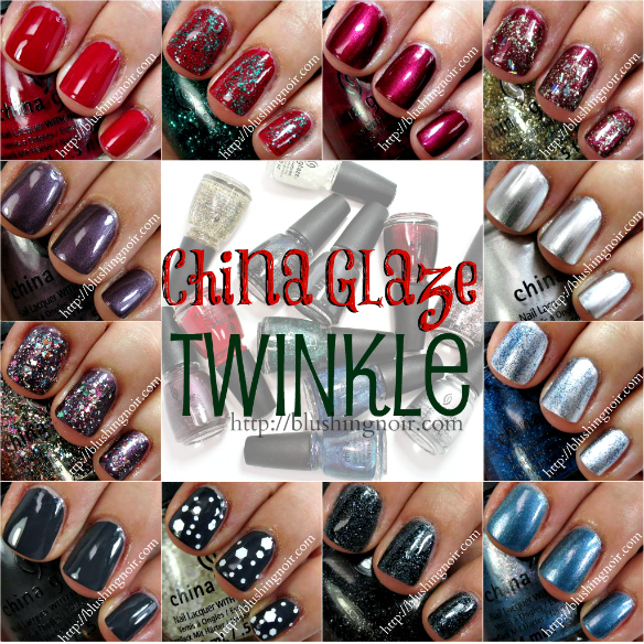 China Glaze Twinkle Nail Polish Collection Swatches + Review – Holiday 2014