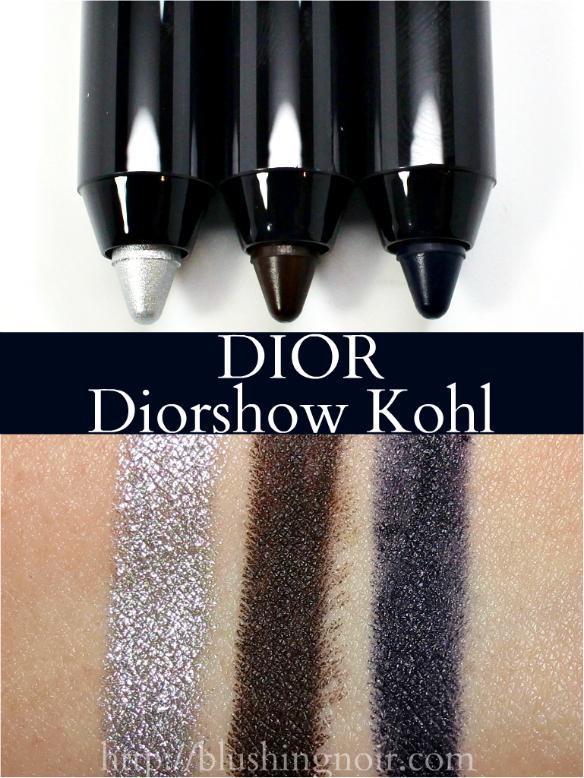 Dior Diorshow Kohl Eyeliner swatches